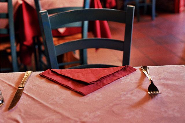 ブリュッセルのレストランにて(筆者・撮影)